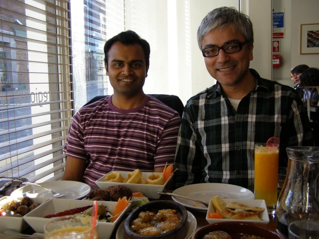 Abhi and Bobby took me out for lunch on a glorious sunny day in Sheffield. (Photo: Megha Mathur)