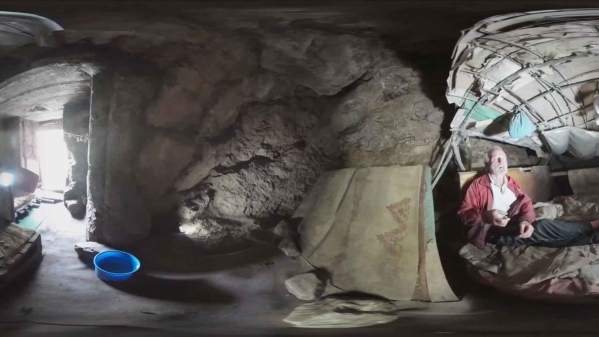 A 360 video of the life of a man who lives in a cave, captured by Dado Ruvic. (Courtesy: Reuters Focus360 Screengrab)