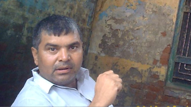 Sanjay Rana, the father of Vishal Rana, the accused arrested in Akhlaq's murder case. (Spy Cam Image: <b>The Quint</b>)