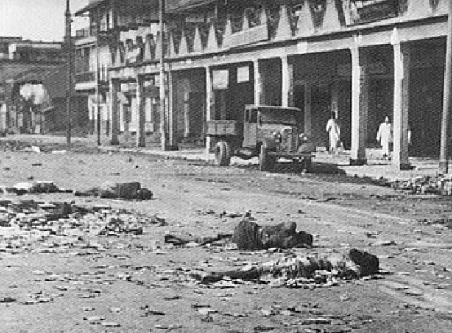 Corpses scattered on the streets of Calcutta after the communal riots of Direct Action Day. (Photo Courtesy: Wikimedia Commons)