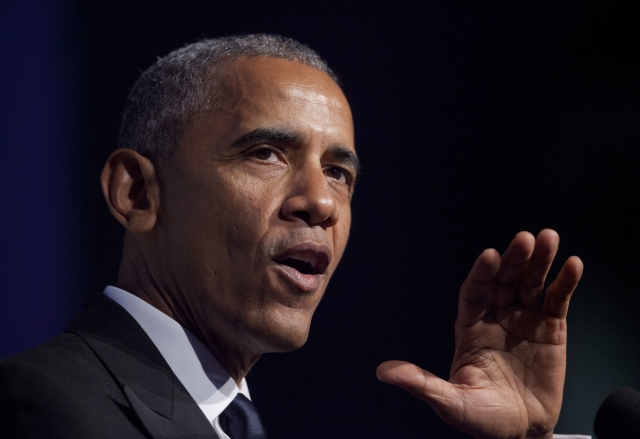 Obama speaking at the Congressional Black Caucus Foundation's 46th Annual Legislative Conference Phoenix Awards Dinner. (Photo: AP)