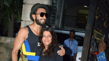 Ranveer Singh and Zoya Akhtar spotted in the city. (Photo: Yogen Shah)