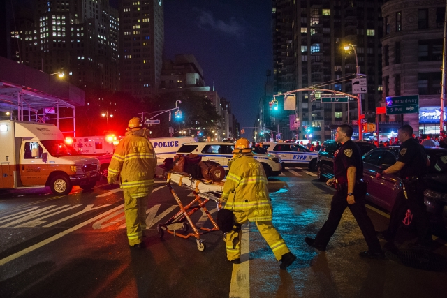 The blast occurred on 23rd Street, a major east-west thoroughfare in the fashionable neighborhood of Chelsea. (Photo: AP)