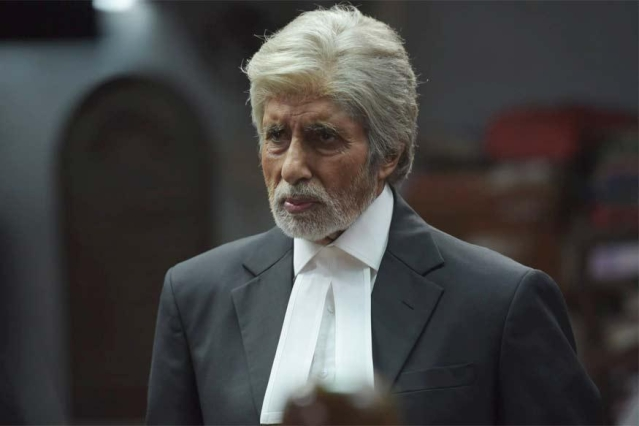 Amitabh Bachchan plays a lawyer in the film.