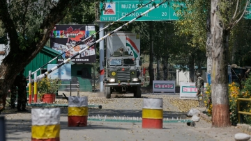 The army base cap which was attacked by militants on Sunday, a day after the attack on PDP leader's home. (Photo: AP)