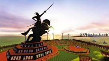 "The proposed Shivaji memorial in the Arabian Sea in Mumbai, Maharashtra. (Photo Courtesy: <a href=""https://dgipr.maharashtra.gov.in/UPLOAD/ELOKRAJYA/2015/01/7489.pdf"">DGIPR.gov.in</a>)"