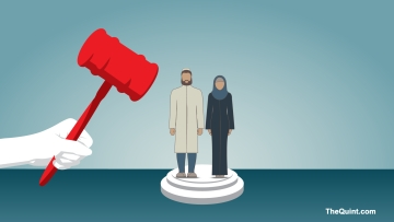 According to Muslim personal law based on the Sharia, a Muslim man can divorce his wife by pronouncing talaq thrice. (Photo: <b>The Quint</b>)