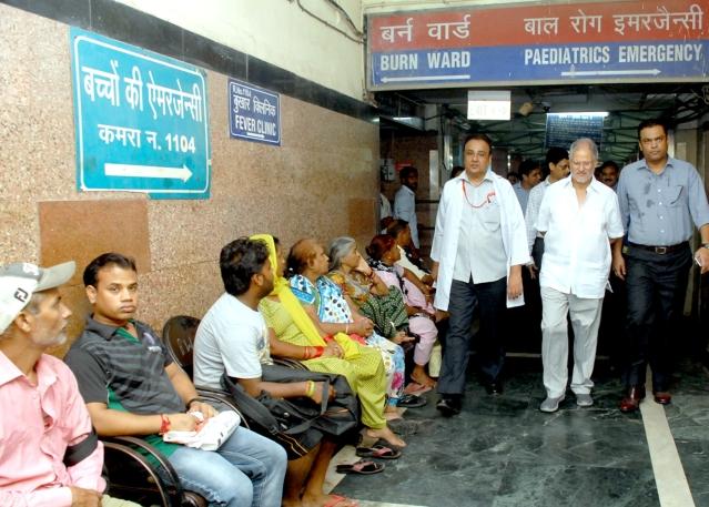 Najeeb Jung visited the city hospitals on Sunday. (Photo: IANS)