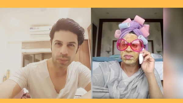 Ssumier Pasricha and  his alter-ego Pammi aunty.