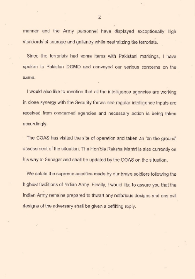 "Official statement by DGMO. (Photo: Twitter/<a href=""https://twitter.com/ShivAroor/status/777479184423714816"">Shiv Aroor</a>)"