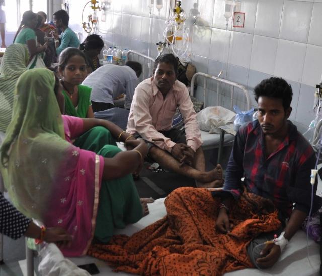 Chikungunya patients being treated at Hindu Rao Hospital in New Delhi. (Photo: IANS)