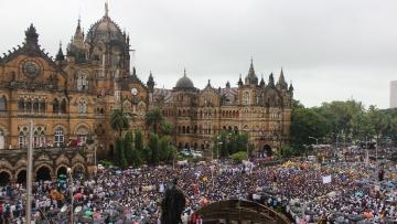 The Chhatrapati Shivaji Terminus in Mumbai.