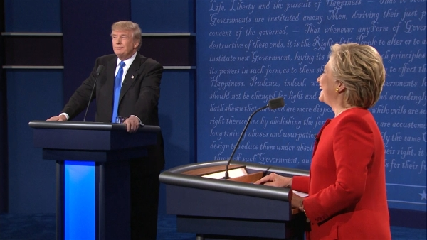 Donald Trump and Hillary Clinton spar over race, ISIS and jobs in the Presidential debate. (Photo: AP)