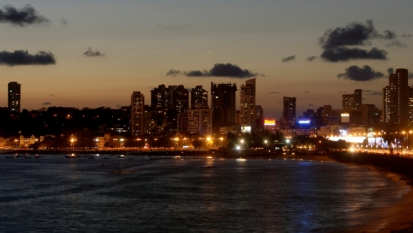 A picture of the Mumbai skyline.