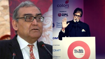 "Katju has questioned Amitabh Bachchan's contribution to the society in his recent Facebook post. (Photo Courtesy: Twitter/ <a href=""https://twitter.com/mkatju"">@mkatju</a>/ Facebook/ <a href=""https://www.facebook.com/glblctznIN/"">@glblctznIN</a>)"