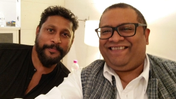 Shoojit Sircar with Aniruddha Roy Chowdhury, the men behind <i>Pink. </i>(Photo courtesy: Twitter)