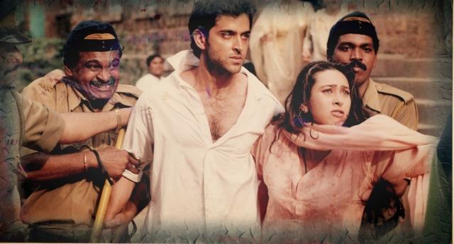 Hrithik Roshan and Karisma Kapoor in <i>Fiza, </i>directed by Khalid Mohamed.