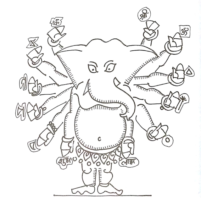 The image of Ganesha, his stories and his rituals. (Photo courtesy: <i>99 Thoughts On Ganesha</i>, Jaico Publishing House)