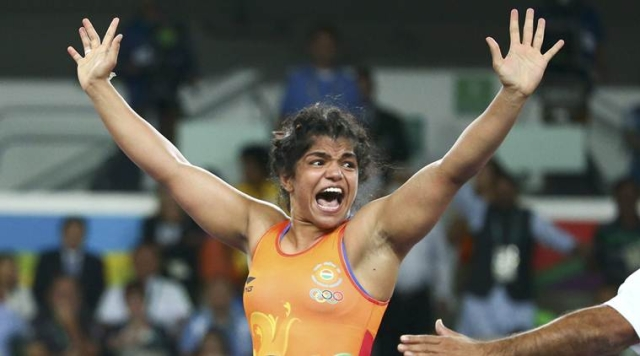 Sakshi Malik after winning the match for Bronze at Rio Olympics. (Photo Courtesy: Reuters)