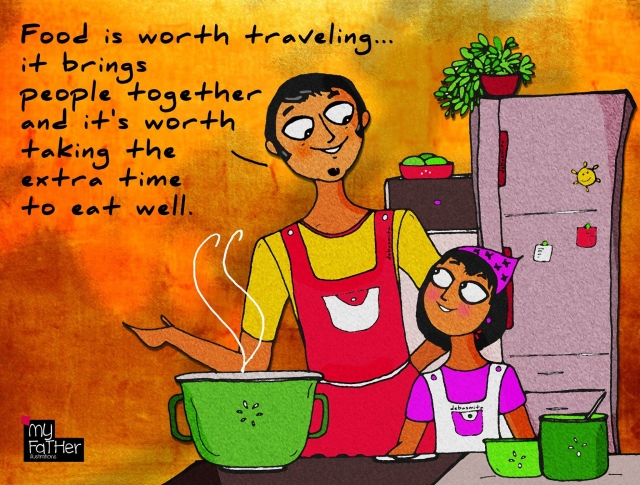 """Christine, a trained recipe taster, tester, editor and culinary coordinator. Tara Sharma Saluja, a model, actor and entrepreneur. (Photo: Facebook @<a href=""""https://www.facebook.com/myfatherIllustrations/"""">MyFatherIllustrations</a>)"""
