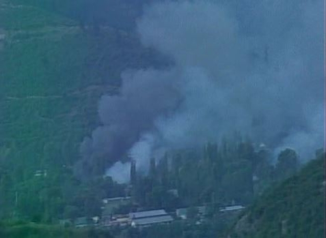 The site of the attack in Uri, as seen from an aerial view. (Photo: ANI/Twitter)
