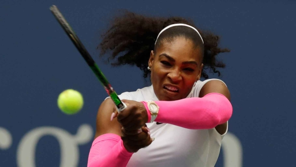 Serena Williams in action is the fourth round match at the US Open. (Photo: AP)