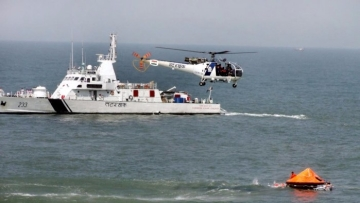 "Search and rescue operation was joined by units of Coast Guard, Indian Navy and ONGC. (Photo Courtesy: <a href=""http://indiannavy.nic.in/"">Indian Navy</a> official site)"