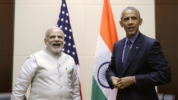 Prime Minister Narendra Modi and US President Barack Obama at the ASEAN summit in Laos. (Photo: AP)