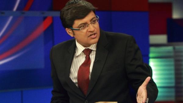 Arnab Goswami at the Times Now studio. (Photo Courtesy: Youth Ki Awaaz)