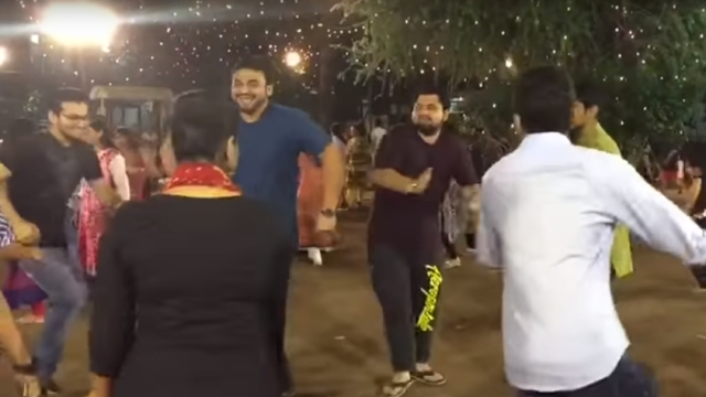 Garba Night video widely shared on social media.