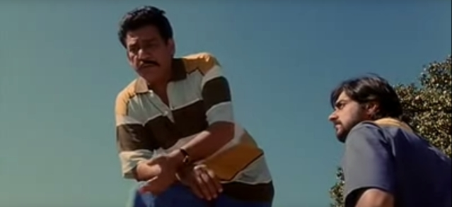 Om Puri and Chandrachur Singh in a still from <i>Maachis</i>.