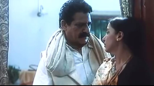 Om Puri and Shabana Azmi in a still from <i>Mrityudand</i>.