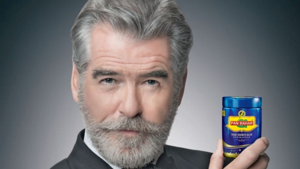 Pierce Brosnan is the face of a new pan masala campaign.