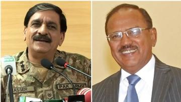 Pakistani NSA Nasir Janjua and his Indian counterpart Ajit Doval.