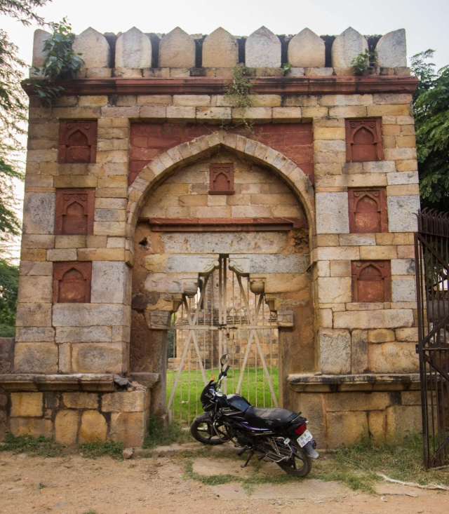 The motorcycle, however, didn't belong to the Mughals. (Photo: Abhilash Mallick/<b>The Quint)</b>
