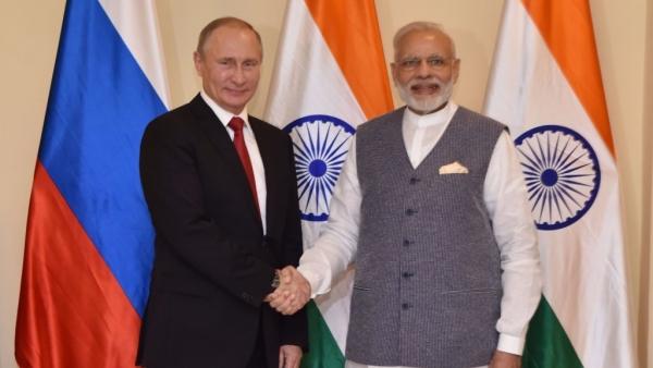 Photo of Narendra Modi with Russian President Vladimir Putin used for representation.