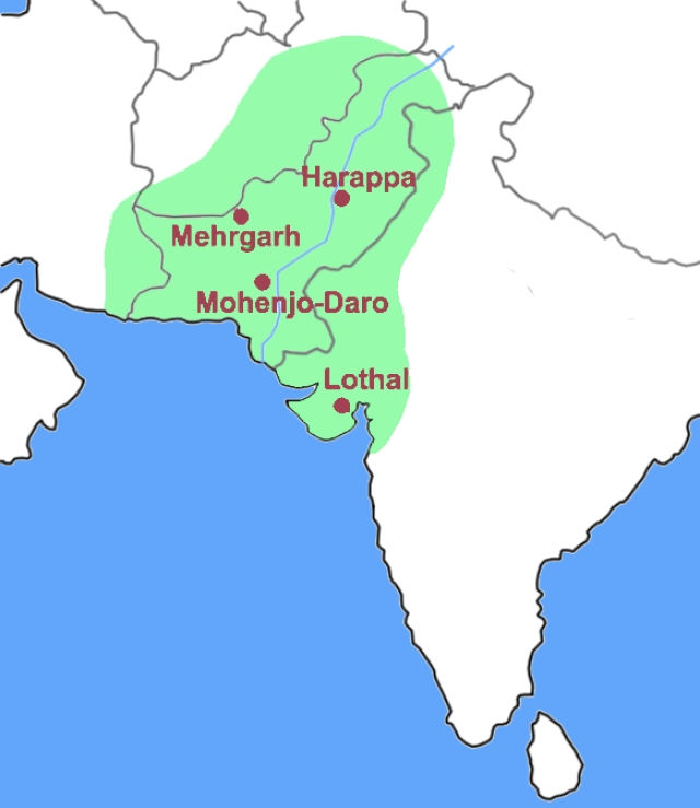 A map displaying the Indus Valley civilisation spread over present day India and Pakistan. (Photo Courtesy: Wikimedia Commons)