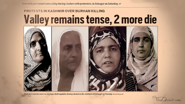Meet the four mothers who lost their sons and only financial support to the recent Kashmir unrest. (Photo: <b>The Quint</b>)