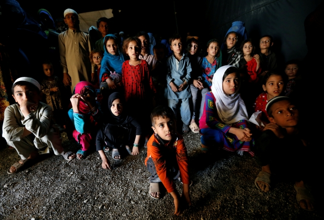 Afghani Pashtun refugee children at the UNHCR registration centre in Kabul. (Photo: Reuters)