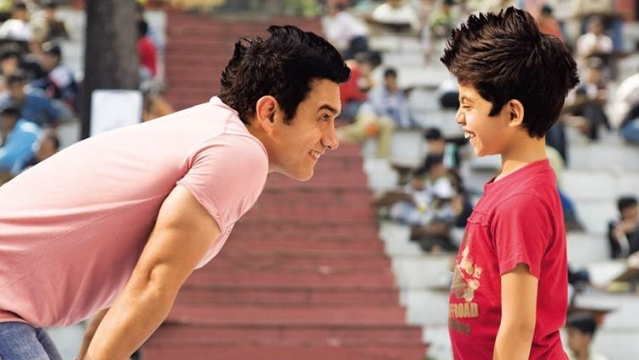 Aamir Khan and Darsheel Safary in a scene from <i>Taare Zameen Par. </i>