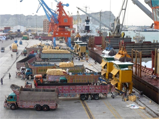 The Gwadar port is poised to become a major logistics hub for the region. (Photo Courtesy: thethirdpole.net)