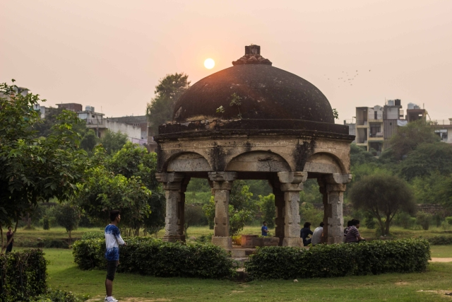 An old and abandoned place serves as a good playing ground specially when there is scarcity of playing grounds in metropolitan cities. (Photo: Abhilash Mallick/<b>The Quint)</b>