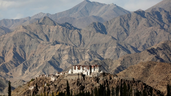 Stakna monastery catches the evening light near Leh, the largest town in the region of Ladakh, nestled high in the Indian Himalayas. (Photo: Reuters)