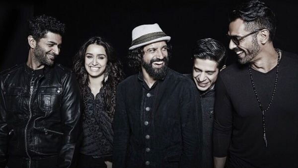 Purab Kohli, Shraddha Kapoor, Farhan Akhtar, Shashank Arora and Arjun Rampal in <i>Rock On 2.</i>