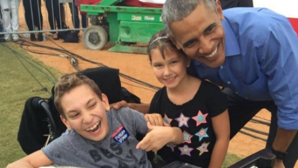 """JJ Holmes was upset with the way Donald Trump mocked a disabled journalist last year. (Photo: Twitter <a href=""""https://twitter.com/MissMyrtle2"""">@MissMyrtle2</a>)"""