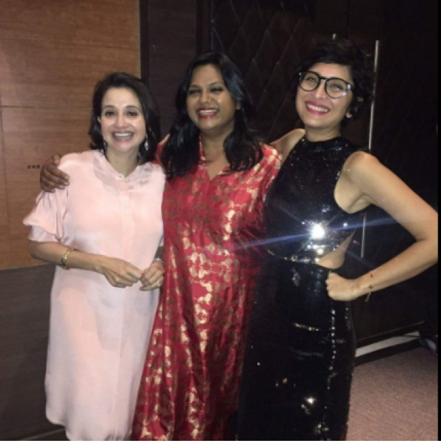 "Anupama Chopra, Smriti Kiran and Kiran Rao. (Photo Courtesy: <a href=""https://twitter.com/BW_Bombshells"">Twitter/@BW_Bombshells</a>)"
