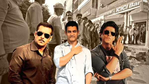 Wondering what it would be like to stand in queue with Shah Rukh, Salman and Aamir outside an ATM? Guess no more.