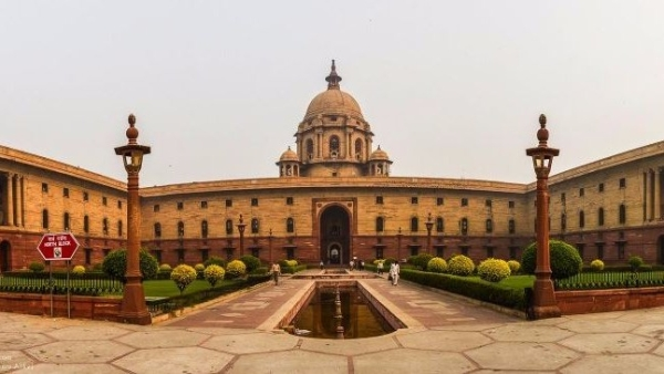 The North block of Central Secretariat building that houses the Ministry of Finance and Ministry of Home Affairs in New Delhi.