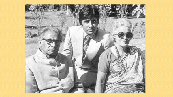 "Harivansh Rai Bachchan with his wife Teji Bachchan and son Amitabh Bachchan (Photo: Twitter/<a href=""https://twitter.com/BachchanWorld/status/538042698645520385"">@BachchanWorld</a>)"