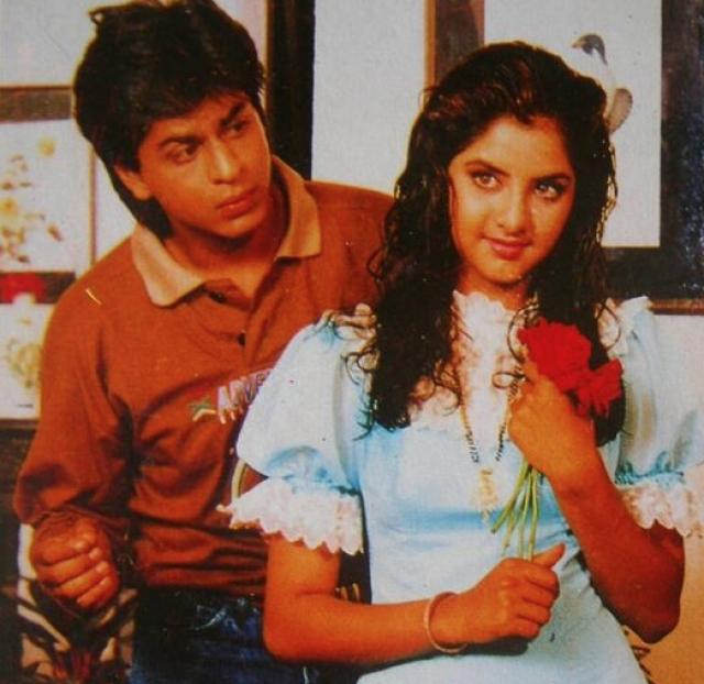 Shah Rukh Khan and Divya Bharti in <i>Dil Aashna Hai.</i>